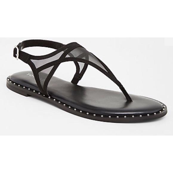 f17a316f7634 Torrid Mesh T-Strap Studded Sandals (Wide Width)